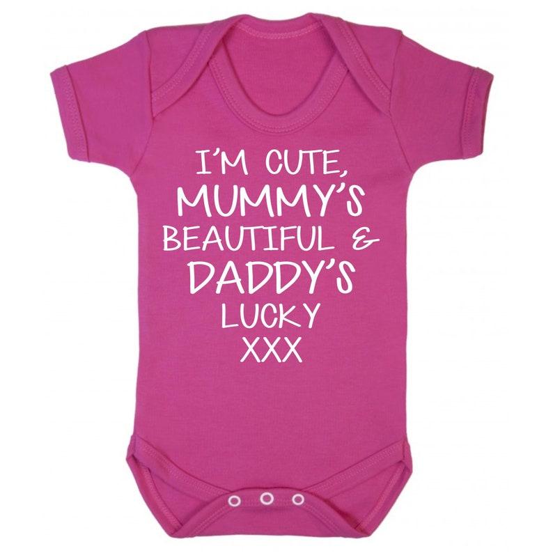 9ecc312d Cute Beautiful Lucky Baby Grow Babywear Bodysuit Love Vest   Etsy