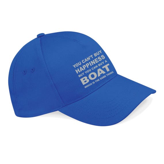 Happiness Boat Hat Sailing Cap Sail 5 panel cap Printed  f511f7cf4066