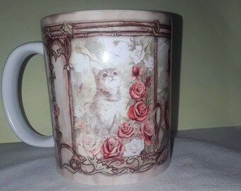Kitten and Dragonfly Mug