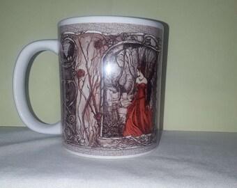 Gothic Lady In Red Mug