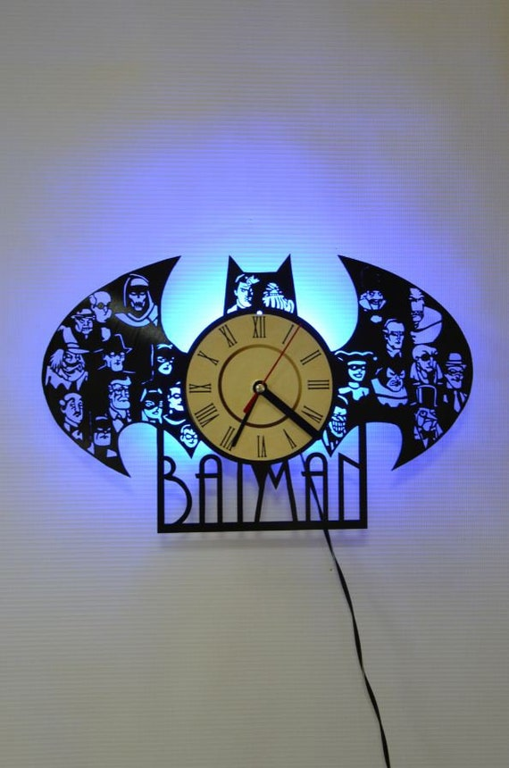 Batman Symbol Wall Decor Batman Symbol Blue Led Night Light