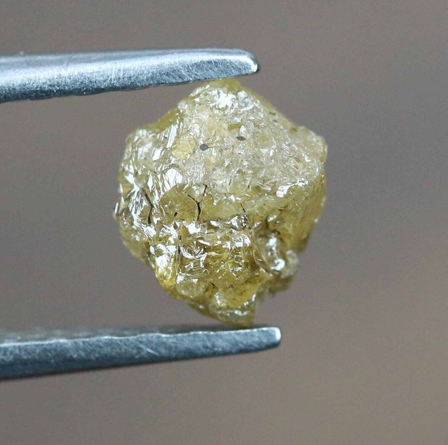 0,70 carat diamant diamant diamant noir jaune couleur africaine brut fecc6e
