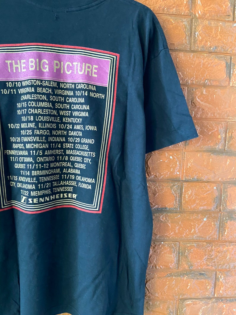 Vintage 90s Elton John The Big Picture 1997 Album Promo Tour T Shirt  90s Classic Rock  Pop RnB Music  Vintage Music T Shirt Size L