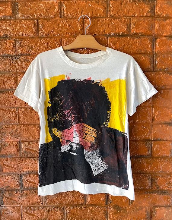 Vintage 90s Joy Division Hand Printed Punk T Shirt