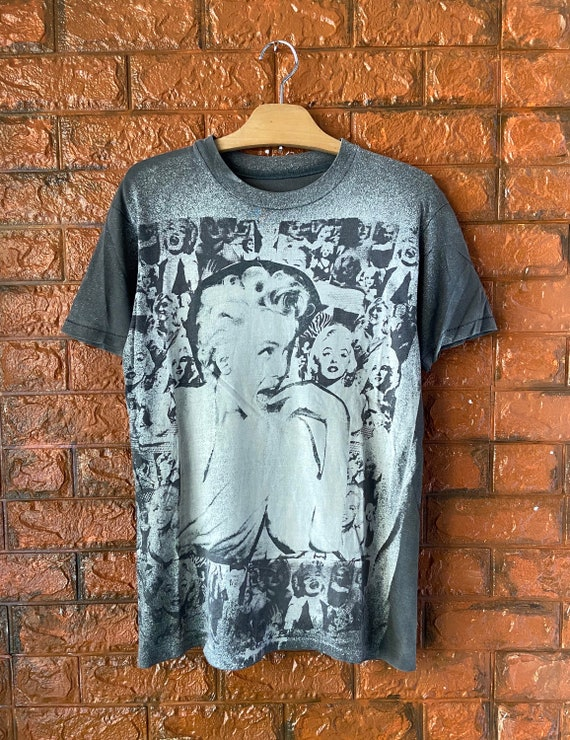 "Vintage 80s Mosquitohead T Shirt ""Marilyn Monroe"""