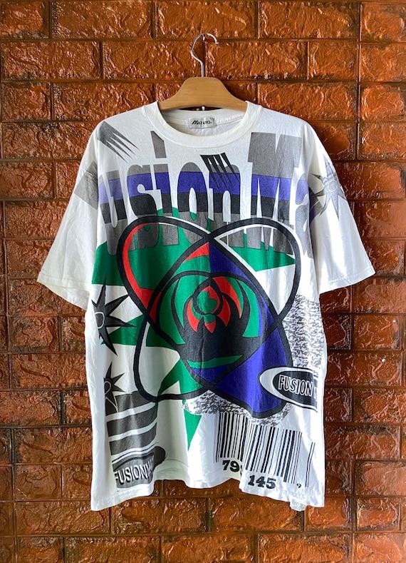 """Vintage 90s Mizuno Sportswear """"Fusion Max"""" Art T S"""