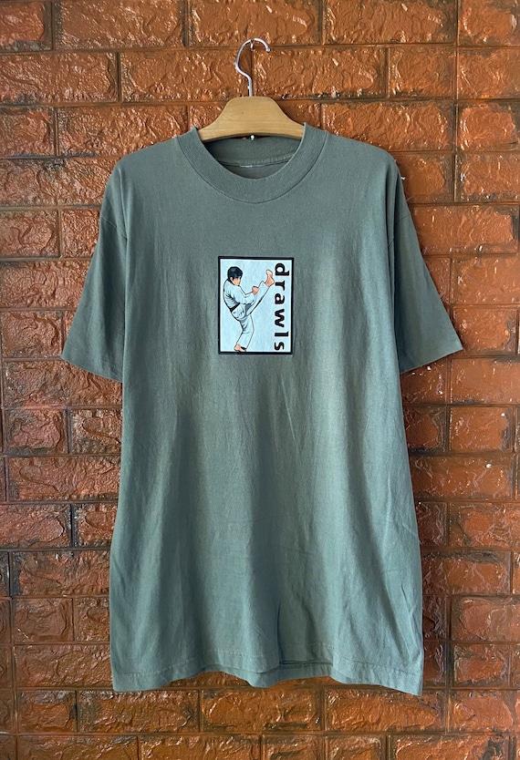 Vintage 90s Volcano Oulset Eric Cantona Streetwear Brand T Shirt  Freshjive Fuct  Pervert  90s Streetwear T Shirt Made In Usa Size M