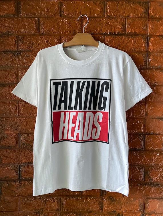 Vintage 90s Talking Heads American Punk Band Logo