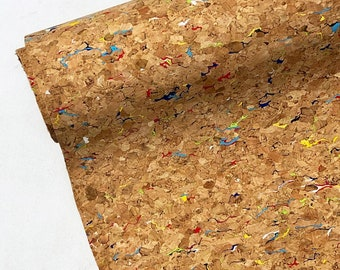 Rainbow Cork Fabric - Cork Vinyl - Pre-cut