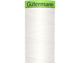 Gütermann rPET Sew-all Polyester Thread - White 800
