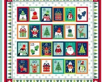 Novelty Christmas Advent Calendar Panel by Makower - Christmas Advent Calendar Kit