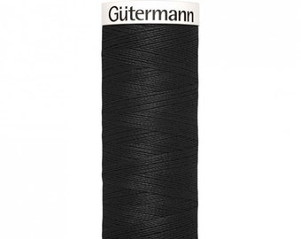 Gütermann rPET Sew-all Polyester Thread - Black 000