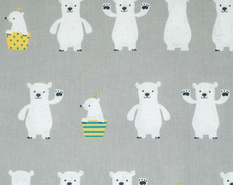 Polar Bears - Japanese Canvas Fabric