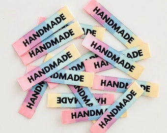 HANDMADE Rainbow Woven Labels 8 Pack - Labels By Kylie and The Machine