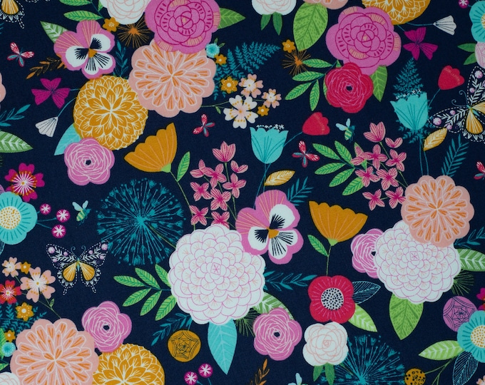 Featured listing image: Flowers on Navy