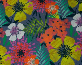 Tropical Hawaiian Fabric - Stof France - 160cm WIDE