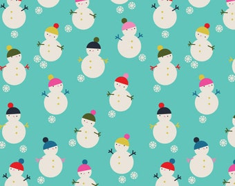 Snowmen - Merry and Bright - Dashwood Studio - Cotton Fabric - Quilting Cotton