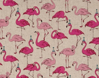 Party Flamingo Beige - PRECUT HALF METRE