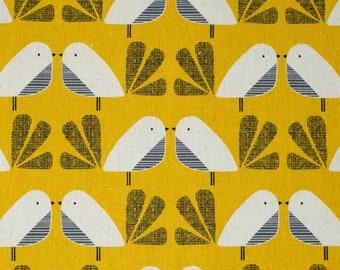Nesting Birds - Dashwood Studio - Cotton Linen Canvas - Extra Wide