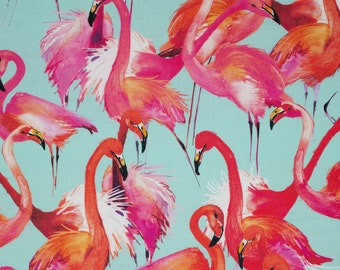 Tropical Flamingo Fabric - Heavy Weight Cotton 140cm Wide