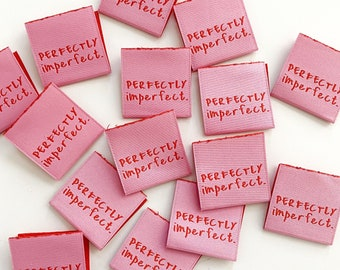 Perfectly Imperfect Woven Labels 8 Pack - Labels By Kylie and The Machine