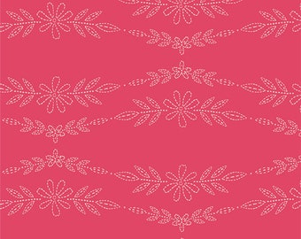 Embroidered Garland Rose - Art Gallery Fabrics