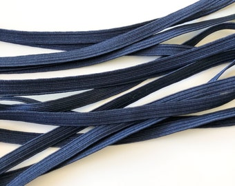 Navy Blue Elastic 6mm 8 cord - Sold by the metre - Face Mask Elastic