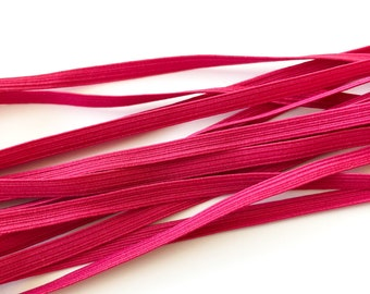 Pink Elastic 6mm 8cord - Sold by the metre - Face Mask Elastic