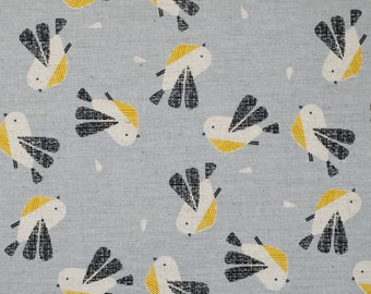 Nesting Birds - Dashwood Studio - Cotton Linen Canvas - Extra Wide