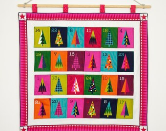 Wrap It Up Christmas Trees Advent Calendar by Makower - Christmas Advent Calendar Kit