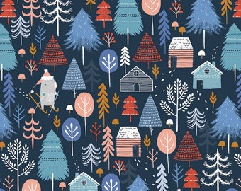 Snow Much Fun on Navy - Dashwood Studio