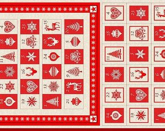 Scandi Christmas Advent Calendar by Makower - Christmas Advent Calendar Kit