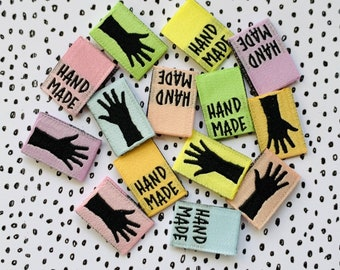 LIMITED EDITION! Rainbow Mini Hands Woven Labels 14 Pack - Labels By Kylie and The Machine