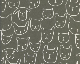 Animal Faces - PRECUT FAT QUARTER Cotton + Steel