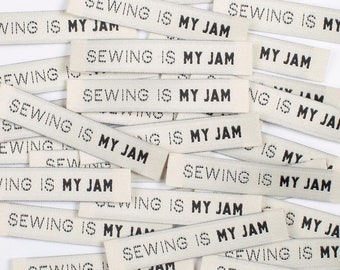Sewing Is My Jam - Woven Labels 8 Pack - Labels By Kylie and The Machine