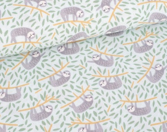 Sloths - Born To Be Wild - Dear Stella - Sloth Fabric - Lazy Sloths - Quilting Cotton Fabric - Cotton Fabric