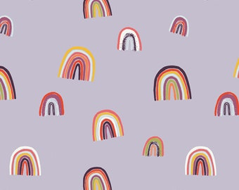Rainbows on Lilac - Art Gallery Fabrics