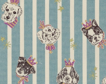 Party Dogs Metallic - Japanese Canvas Fabric