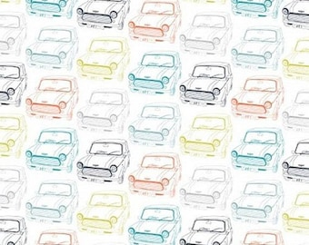 Mini Cars - PRECUT FAT QUARTER - Dashwood Studio