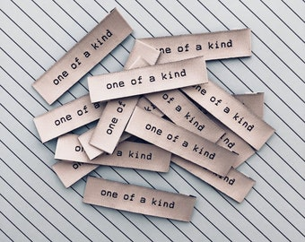ONE OF A KIND Woven Labels 8 Pack - Labels By Kylie and The Machine
