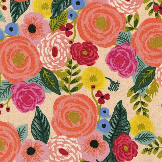 English Garden - Cream Canvas Rifle Paper Co - Canvas Fabric - Designer Fabric