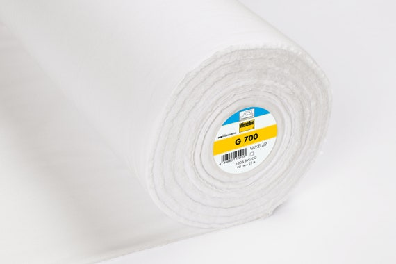 iron on fusible interfacing Vilene G700 White metre woven cotton Medium