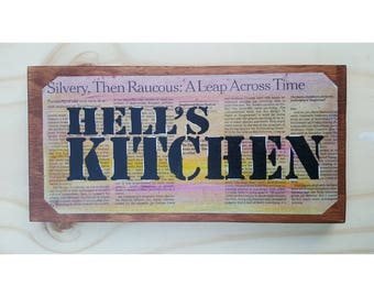 """New York City """"Hell's kitchen""""on wood"""