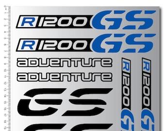 Adventure Top Case Grey R1200GS Fairing Stickers Decals BMW R1200 GS //532
