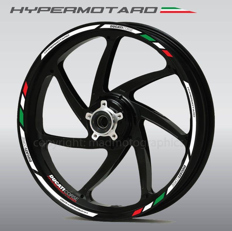 Ducati Hypermotard 939 Sp Motorcycle Wheel Stickers Set Decals Etsy