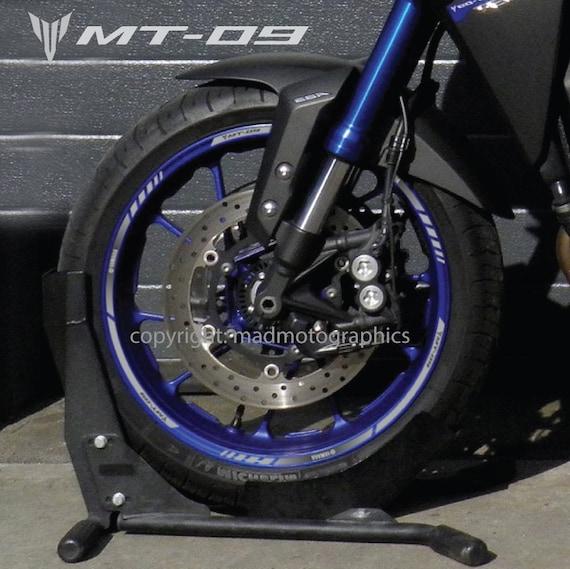 yamaha mt 09 motorrad felgen aufkleber set decals streifen. Black Bedroom Furniture Sets. Home Design Ideas