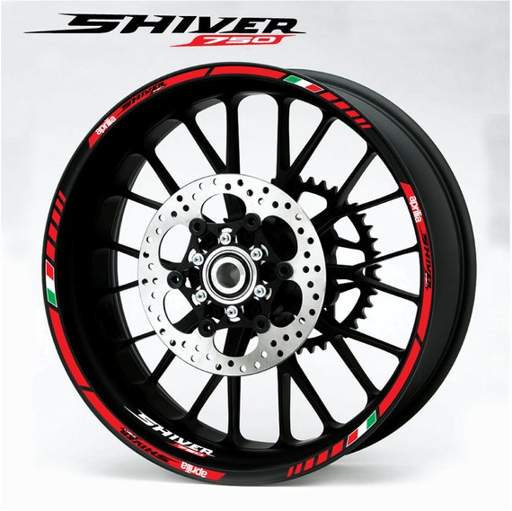 aprilia Racing RS motorcycle wheel decals rim stickers set rs50 rs125 rs250 red