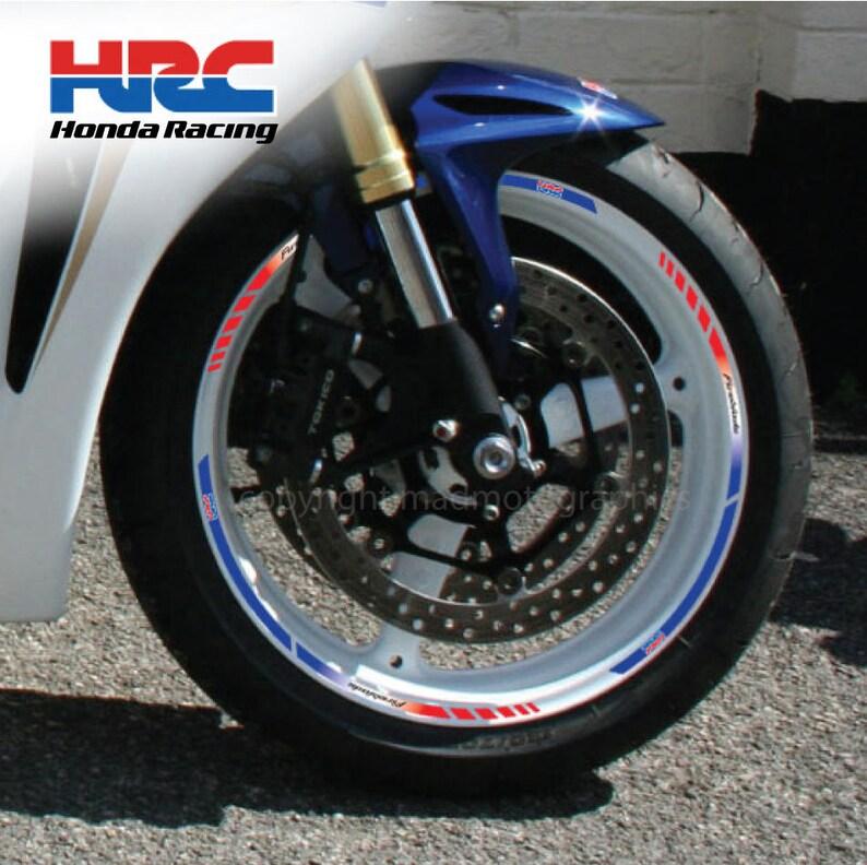 Honda Hrc Motorcycle Wheel Stickers Set Decals Rim Stripes Etsy