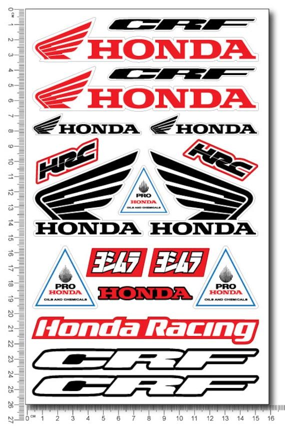 Honda Crf Racing Motorcycle Stickers Fairing Tank Decals Crf Etsy