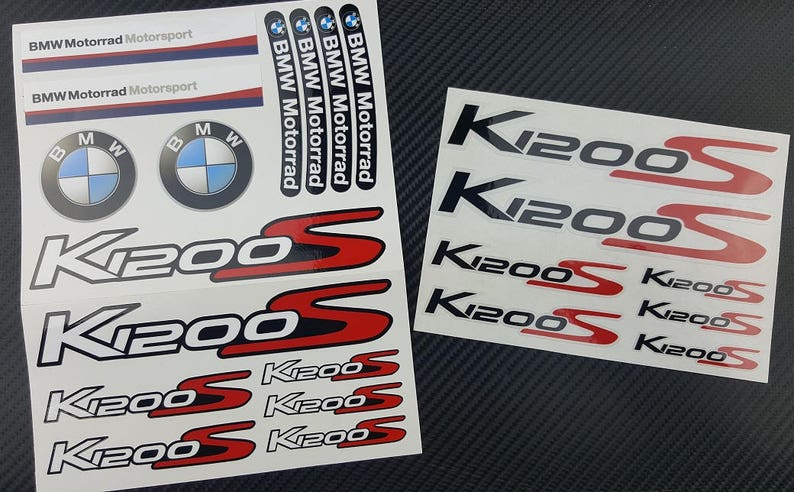 Bmw K1200s Motorrad Motorcycle 2 Parts Stickers Fairing Decals Etsy